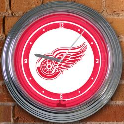 Detroit Red Wings 15-inch Neon Clock - Thumbnail 2