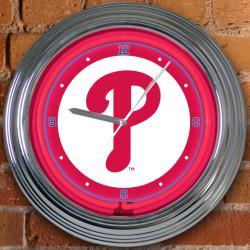 Philadelphia Phillies 15-inch Neon Clock - Thumbnail 1