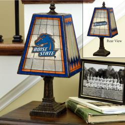 Boise State Broncos 14-inch Art Glass Lamp - Thumbnail 0