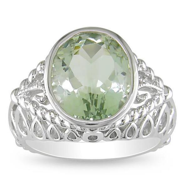 Miadora Sterling Silver Amethyst Ring