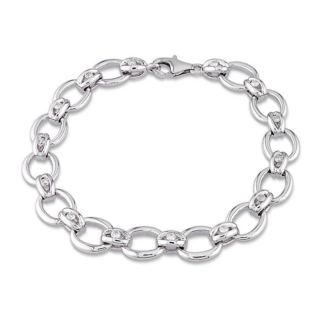 Miadora Sterling Silver 1/2ct TDW Diamond Bracelet
