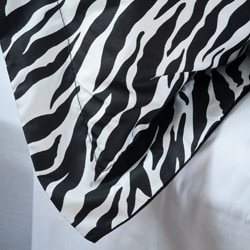 Zebra 2-piece Twin-size Mini Comforter Set - Thumbnail 2