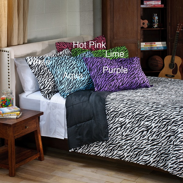 Zebra 3-piece Full/ Queen-size Mini Comforter Set