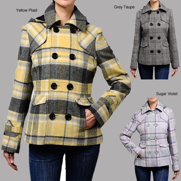 Maralyn & Me Hooded Wool-blend Peacoat