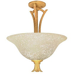 Tropica 2-light Aged Beige Semi Flush Mount Fixture