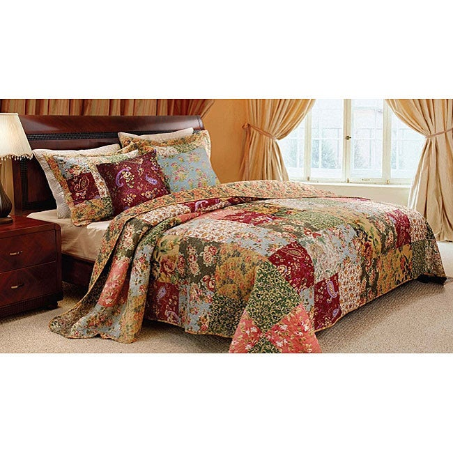 Greenland Home Fashions Antique Chic 5-piece Full/ Queen-size Quilt Set