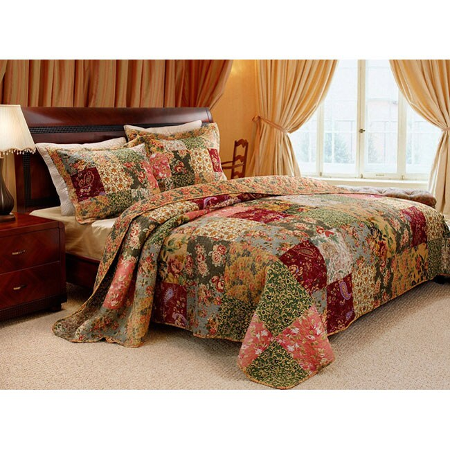 Greenland Home Fashions Antique Chic 3-piece Twin-size Quilt Set