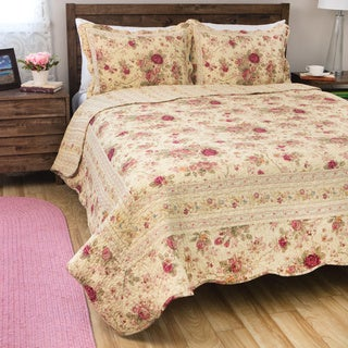 Greenland Home Fashions Antique Rose Full/ Queen-size 3-piece Quilt Set