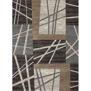 Crystalline Ash Geometric Rug (3'10 x 5'7)