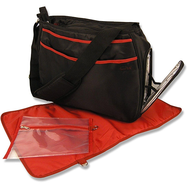 Trend Lab Black/ Red Ultimate Diaper Bag