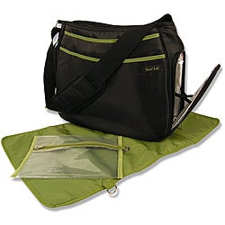 Trend Lab Black and Green Ultimate Diaper Bag