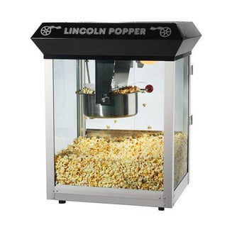 Lincoln Black Bar Style 8-oz Antique Popcorn Machine
