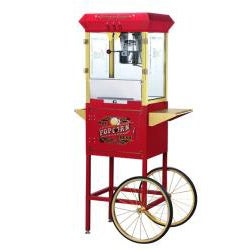 Princeton 6030 Red 8-oz Antique Popcorn Machine and Cart