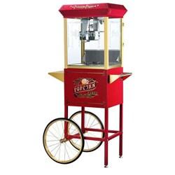 Princeton 6030 Red 8-oz Antique Popcorn Machine and Cart