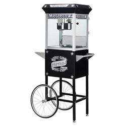 Paducah 6035 Black 8-oz Antique Popcorn Machine and Cart