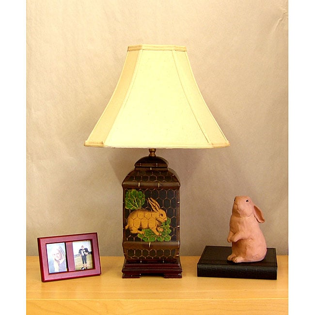 Porcelain Rabbit 1-light Table Lamp