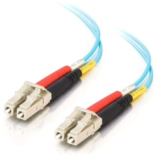 5m LC-LC 10Gb 50/125 OM3 Duplex Multimode PVC Fiber Optic Cable - Aqu