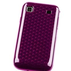 Clear Hot Pink Mid Diamond TPU Case for Samsung i9000/ T959 Vibrant