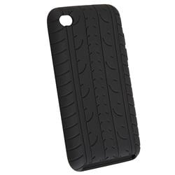 Black Tire Tread Silicone Case for Apple iPod Touch 4 - Thumbnail 1