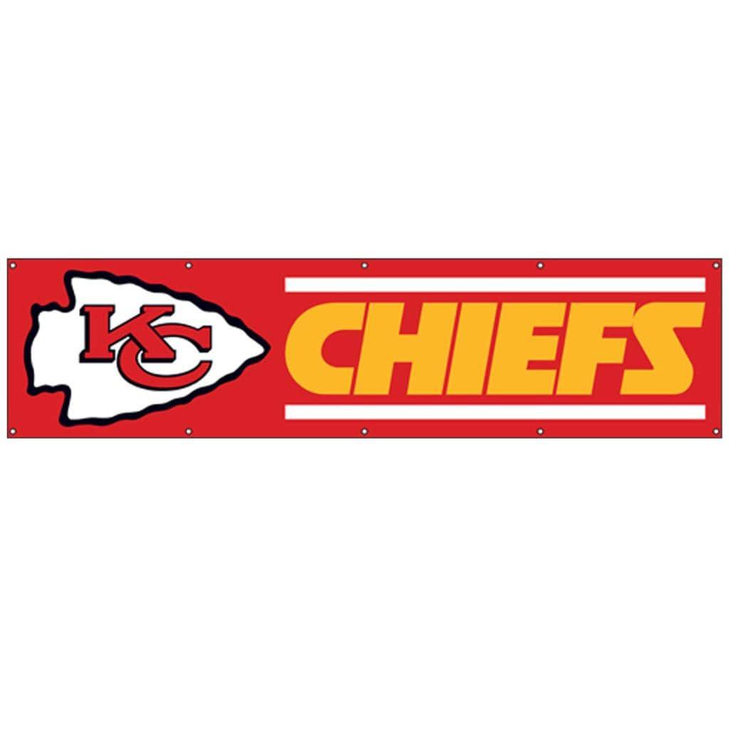Kansas City Chiefs 8 Foot Nylon Banner Free Shipping On