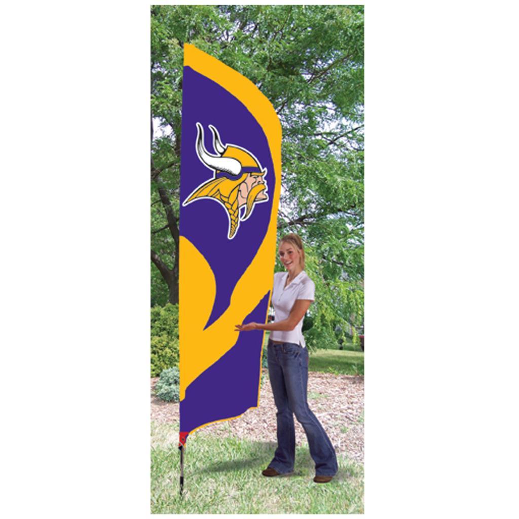 Minnesota Vikings Tall Nylon Team Flag