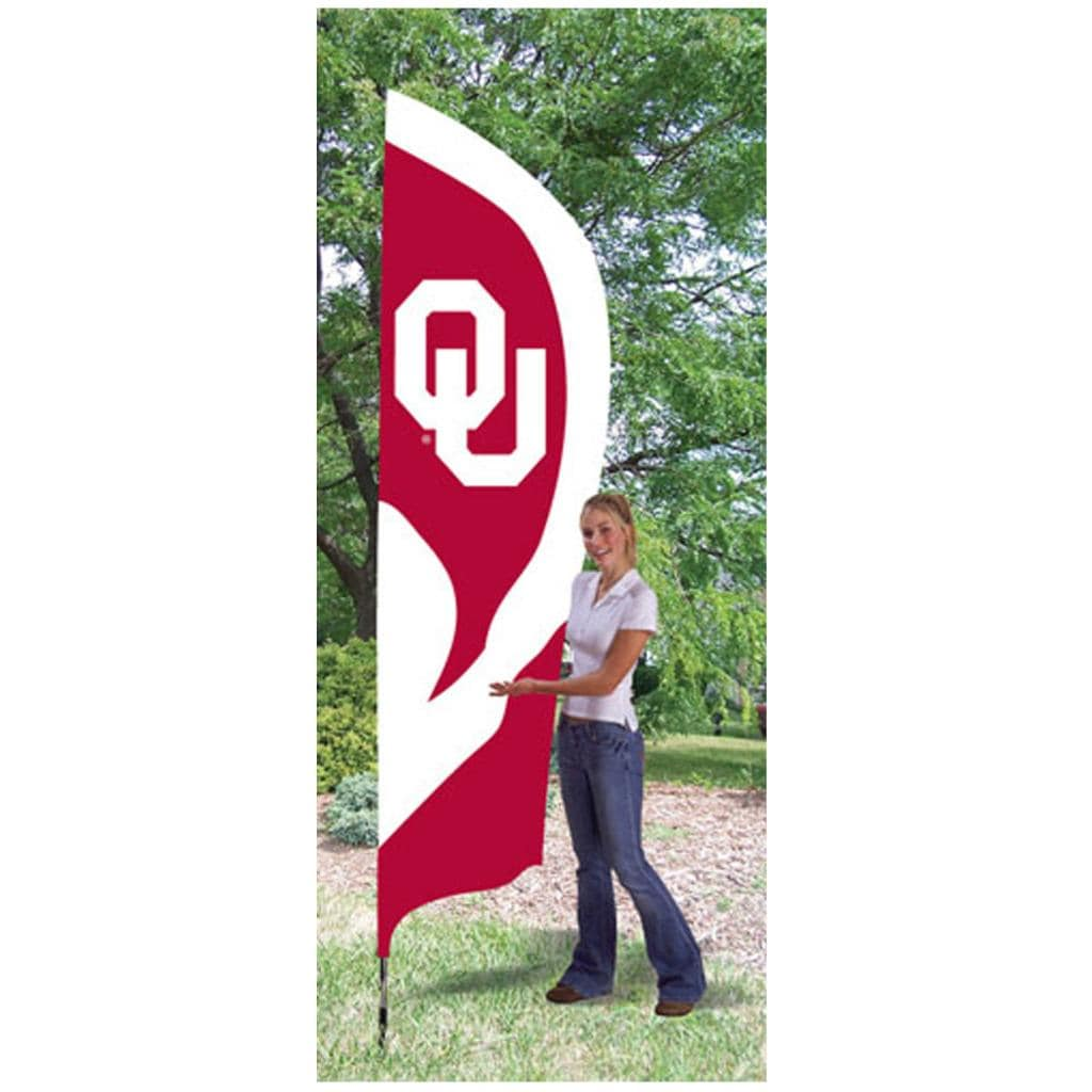 Oklahoma Sooners Tall Nylon Team Flag