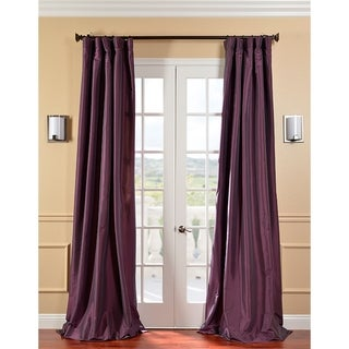 Exclusive Fabrics Solid Faux Silk Taffeta Dahlia 120-inch Curtain Panel