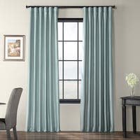 Exclusive Fabrics Solid Faux Silk Taffeta Robin's Egg Curtain Panel