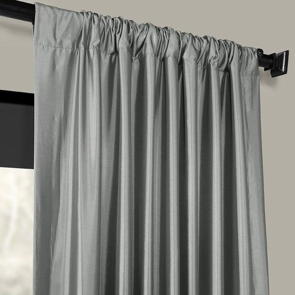 Silver Faux Silk Taffeta Fabric