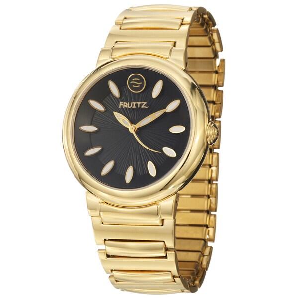 Fruitz Women's 'Sorbet' Yellow Goldplated Steel Quartz Watch