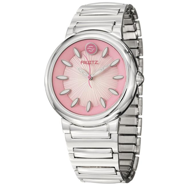 Fruitz Women's 'Sorbet' Stainless Steel Pink Dial Quartz Watch