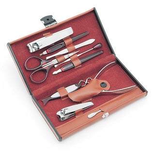Worthy Brown 10-piece Deluxe Manicure Set