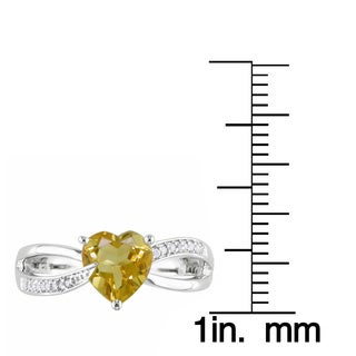 Miadora Sterling Silver Birthstone and Diamond Accent Heart Ring