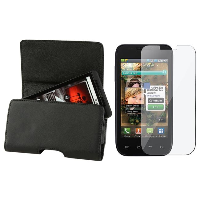 INSTEN Leather Phone Case Cover with Magnetic Flap/ Screen Protector for Samsung Fascinate