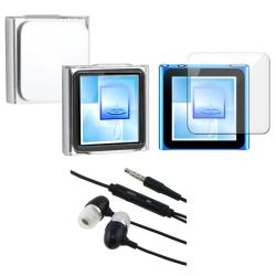 INSTEN 3-piece iPod Case Cover/ Screen Protector/ Headset Combo for Apple iPod Nano 6