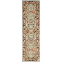 "Safavieh Handmade Heritage Timeless Traditional Blue/ Brown Wool Area Runner Rug - 2'3"" x 8'"