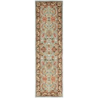 "Safavieh Handmade Heritage Timeless Traditional Blue/ Brown Wool Area Runner Rug (2'3 x 8') - 2'3"" x 8'"