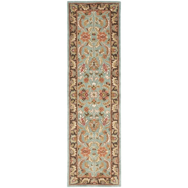 Safavieh Handmade Heritage Timeless Traditional Blue/ Brown Wool Area Runner Rug (2'3 x 8')