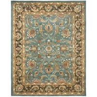 Safavieh Handmade Heritage Timeless Traditional Blue/ Brown Wool Rug - 9'6 x 13'6