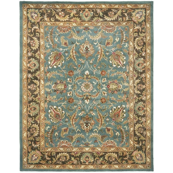 Safavieh Handmade Heritage Timeless Traditional Blue/ Brown Wool Rug - 12' X 18'