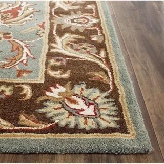 "Safavieh Handmade Heritage Timeless Traditional Blue/ Brown Wool Area Rug (8'3"" x 11')"