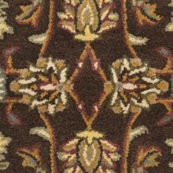 Safavieh Handmade Heritage Timeless Traditional Brown/ Ivory Wool Rug (2' x 3')