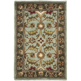 Safavieh Handmade Heritage Timeless Traditional Blue/ Brown Wool Rug (2' x 3')