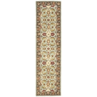 Safavieh Handmade Heritage Timeless Traditional Blue/ Brown Wool Runner (2'3 x 8')