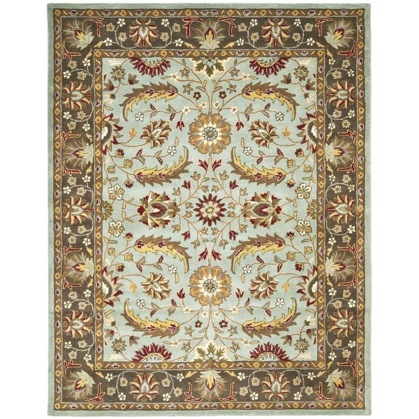 Safavieh Handmade Heritage Timeless Traditional Blue/ Brown Wool Rug (4' x 6')