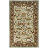 Safavieh Handmade Heritage Timeless Traditional Blue/ Brown Wool Rug - 4' x 6'