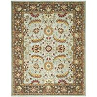 Safavieh Handmade Heritage Timeless Traditional Blue/ Brown Wool Rug - 5' x 8'