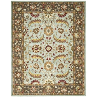Safavieh Handmade Heritage Timeless Traditional Blue/ Brown Wool Rug (7'6 x 9'6)