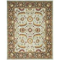 Safavieh Handmade Heritage Timeless Traditional Blue/ Brown Wool Rug - 8'3 x 11'