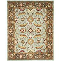"Safavieh Handmade Heritage Timeless Traditional Blue/ Brown Wool Rug - 8'-3"" x 11'"